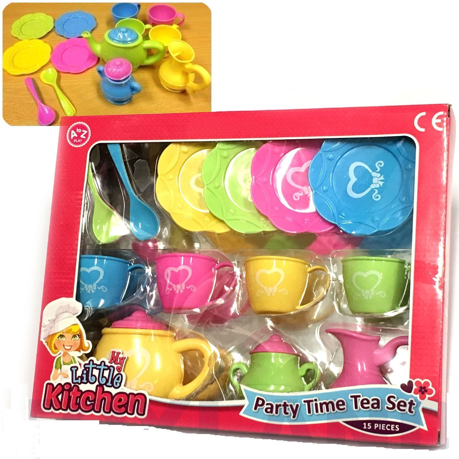 My Little Kitchen Party Time 15 Piece Tea Set