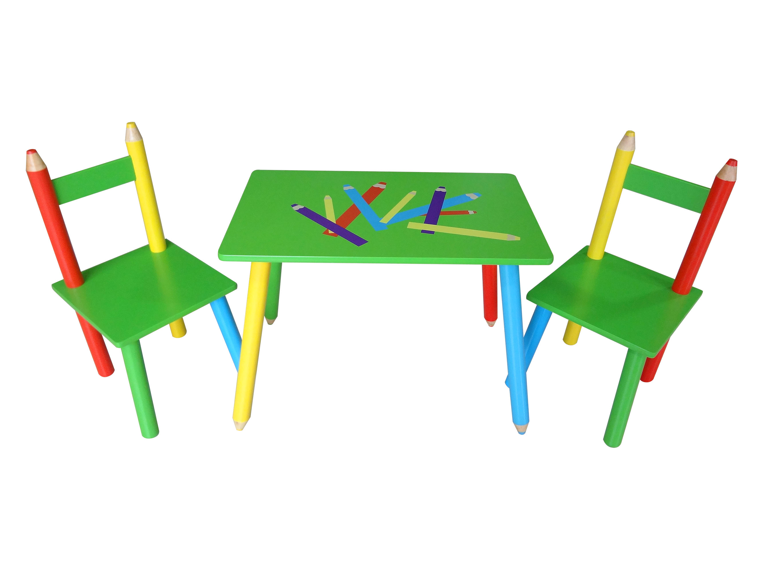 Crayon Table & 2 Chairs Set