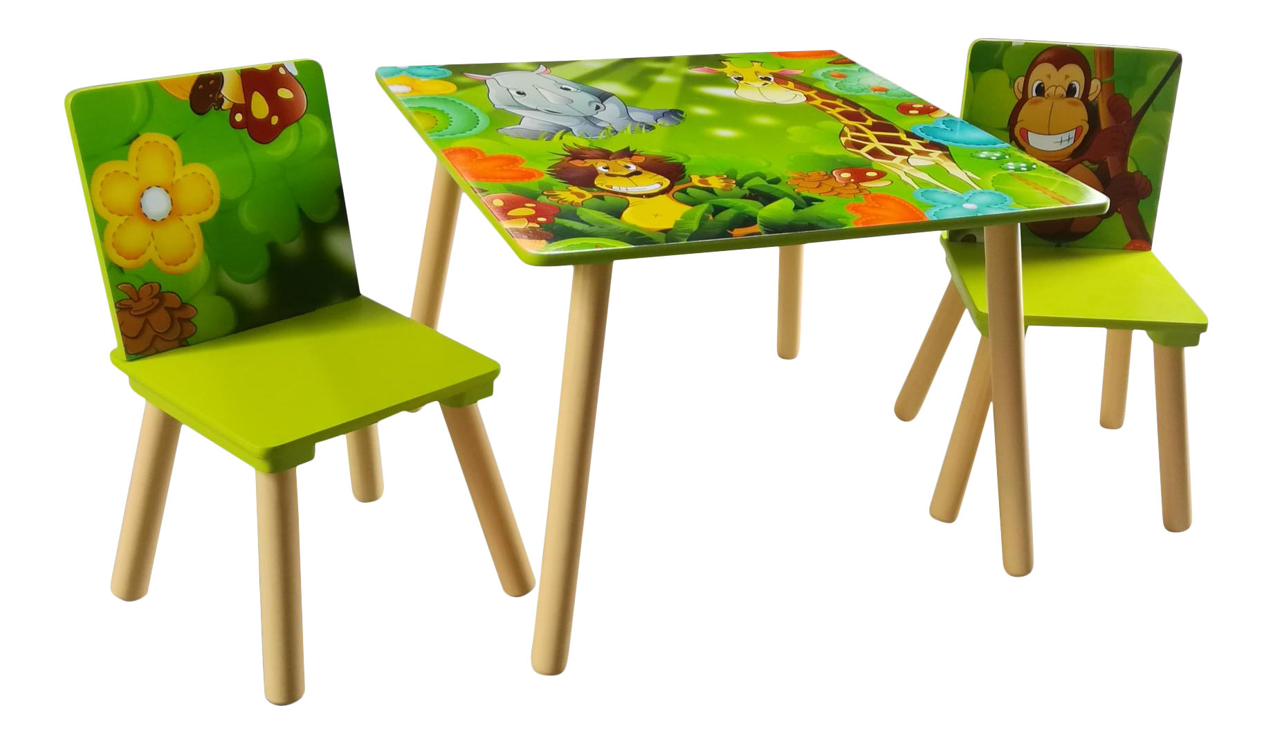 Childrens Furniture Jungle Table and Chairs