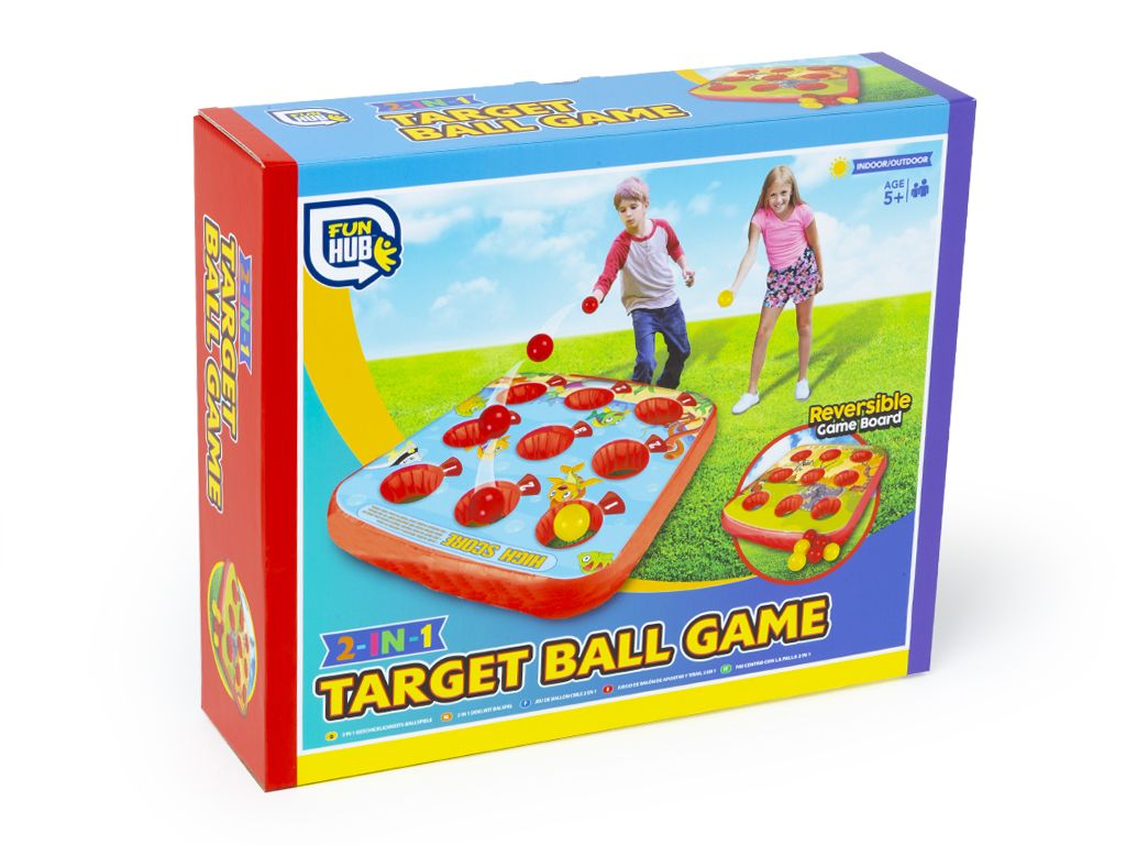 2 in 1 inflatable target ball game