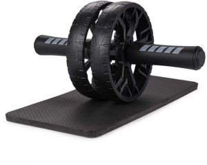 ab roller wheel with black knee mat